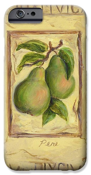 Pears iPhone Cases - Italian Fruit Pears iPhone Case by Marilyn Dunlap