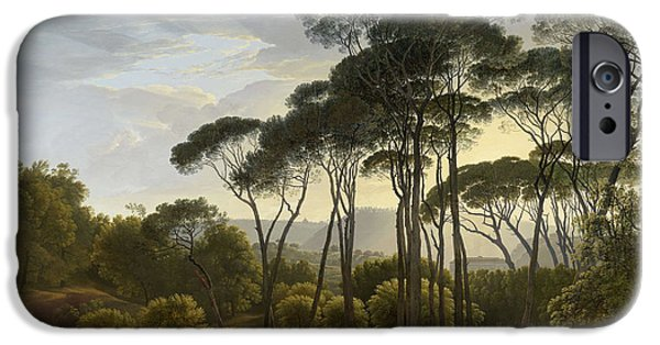 Concept Paintings iPhone Cases - Italian Landscape iPhone Case by Hendrik Voogd