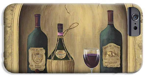 Italian Wine Paintings iPhone Cases - Italian Reds iPhone Case by Marilyn Dunlap