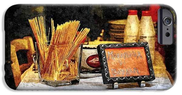 Table Wine iPhone Cases - Italian Restaurant in Rome iPhone Case by Stefano Senise