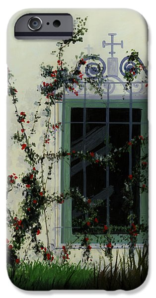 Italian Rose Vine iPhone Case by Cecilia  Brendel
