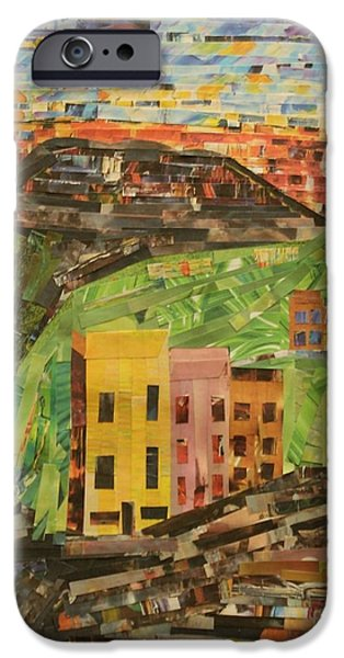 Buildings Mixed Media iPhone Cases - Italian Village iPhone Case by Mary Chris Hines