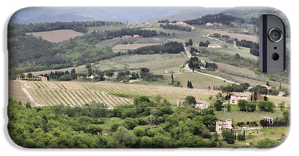 Chianti Hills iPhone Cases - Italian Vineyards iPhone Case by Nancy Ingersoll