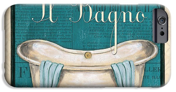 Newspaper iPhone Cases - Italianate Bath iPhone Case by Debbie DeWitt