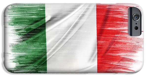 Flag iPhone Cases - Italy iPhone Case by Les Cunliffe