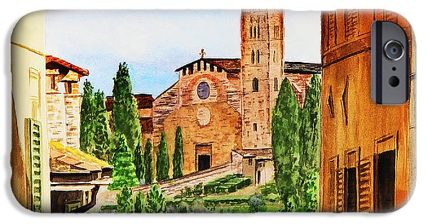 Sienna iPhone Cases - Italy Siena iPhone Case by Irina Sztukowski