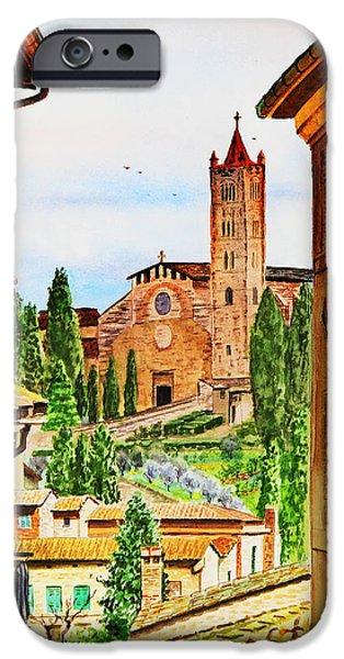 Old Churches iPhone Cases - Italy Siena iPhone Case by Irina Sztukowski