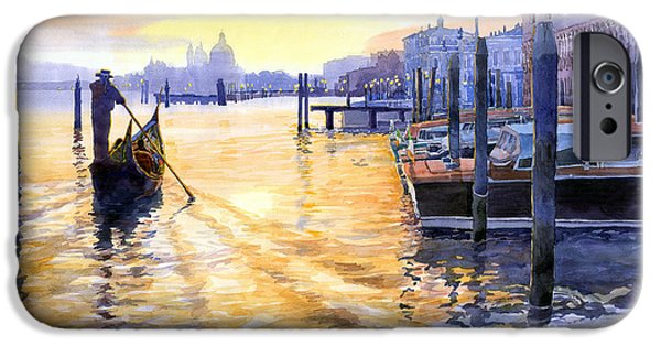 Old Towns iPhone Cases - Italy Venice Dawning iPhone Case by Yuriy Shevchuk