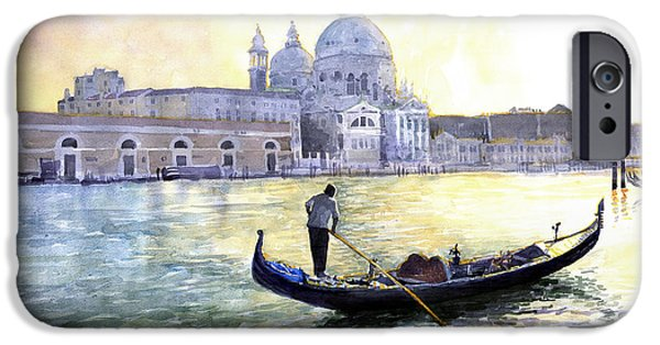 City Scenes Paintings iPhone Cases - Italy Venice Morning iPhone Case by Yuriy Shevchuk