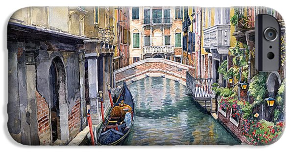 Buildings iPhone Cases - Italy Venice Trattoria Sempione iPhone Case by Yuriy Shevchuk