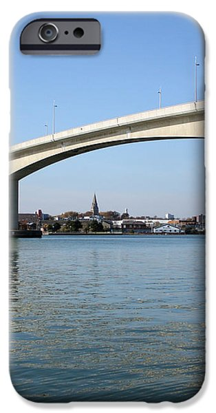 Itchen Bridge Southampton iPhone Case by Terri  Waters