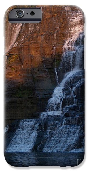 Ithaca iPhone Cases - Ithaca Falls in Autumn iPhone Case by Anna Lisa Yoder