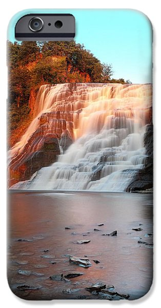 Ithaca iPhone Cases - Ithaca Waterfalls New York iPhone Case by Paul Ge