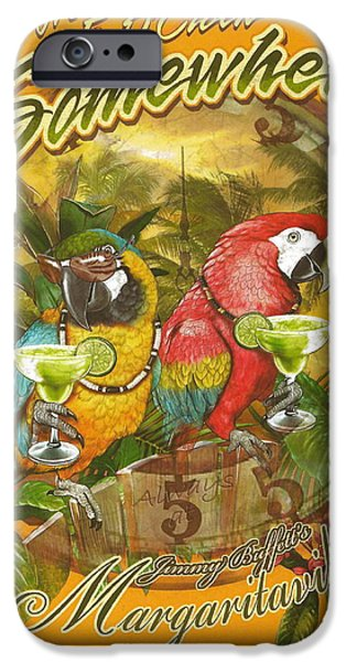 Fish Mixed Media iPhone Cases - Its 5 OClock Somewhere iPhone Case by Desiderata Gallery