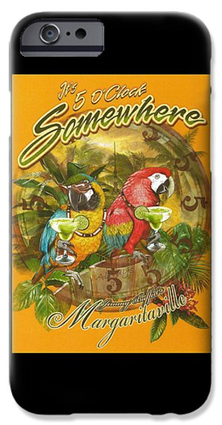 Ocean iPhone Cases - Its 5 OClock Somewhere iPhone Case by Desiderata Gallery