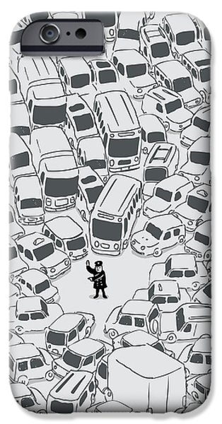 Officers iPhone Cases - Its a jam mr police iPhone Case by Budi Kwan