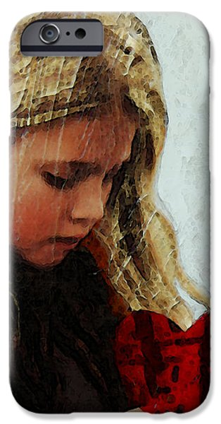 It's All I Have - Mixed Media Art By Sharon Cummings iPhone Case by Sharon Cummings