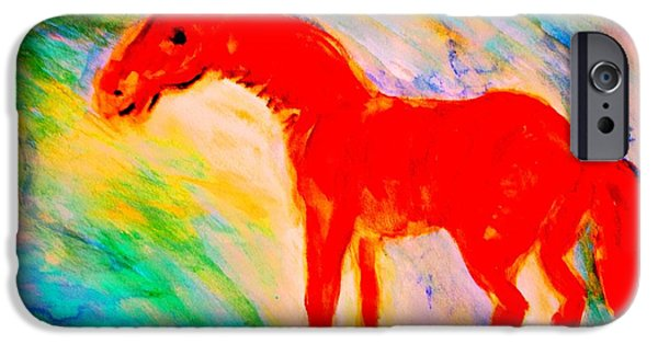 Sweating Paintings iPhone Cases - Its An Adventure iPhone Case by Hilde Widerberg