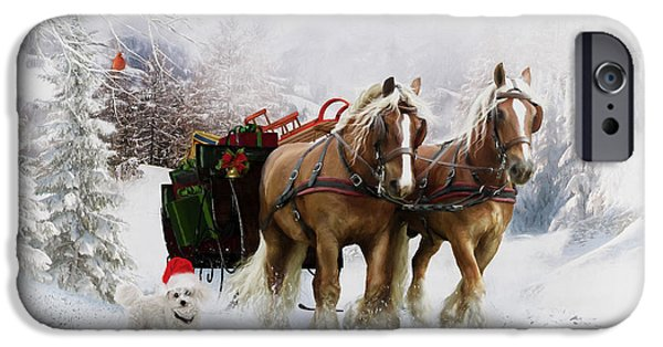 Snow Scene iPhone Cases - Its Christmas iPhone Case by Shanina Conway