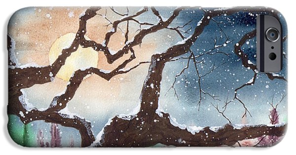 Snowy Night iPhone Cases - Its Cold Outside iPhone Case by Melanie Pruitt