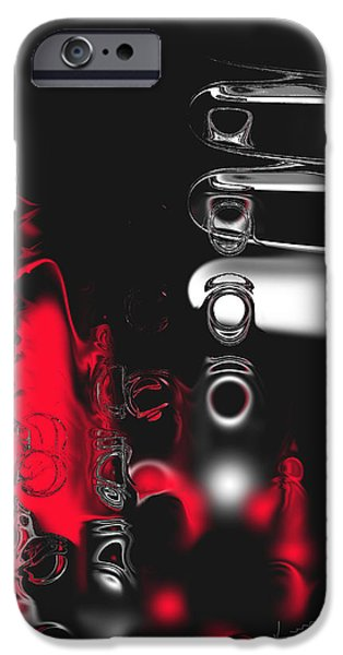 Abstract Digital Paintings iPhone Cases - Its Complicated iPhone Case by Kume Bryant