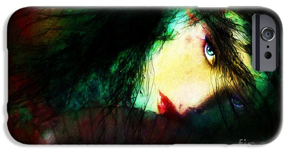 Lips Mixed Media iPhone Cases - Its Complicated iPhone Case by Shanina Conway