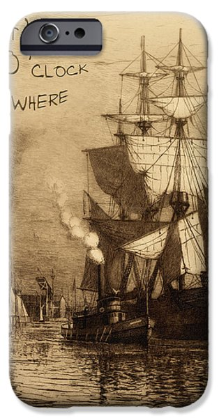 It's Five O'clock Somewhere Schooner iPhone Case by John Stephens