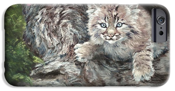 Bobcat Kittens iPhone Cases - Its Monday AGAIN iPhone Case by Sandy Brooks
