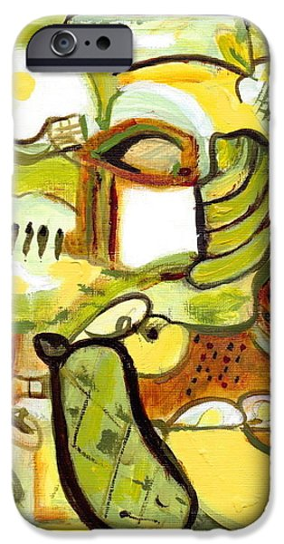 Garden Scene Paintings iPhone Cases - Its My Nature 3 iPhone Case by Stephen Lucas