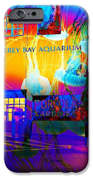 Its Raining Jelly Fish At The Monterey Bay Aquarium 5D25177 Square iPhone Case by Wingsdomain Art and Photography