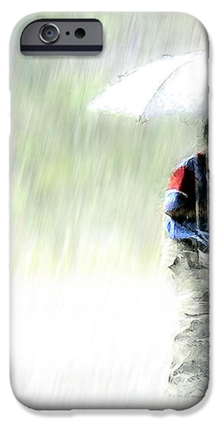 It's Raining Outside iPhone Case by Heiko Koehrer-Wagner