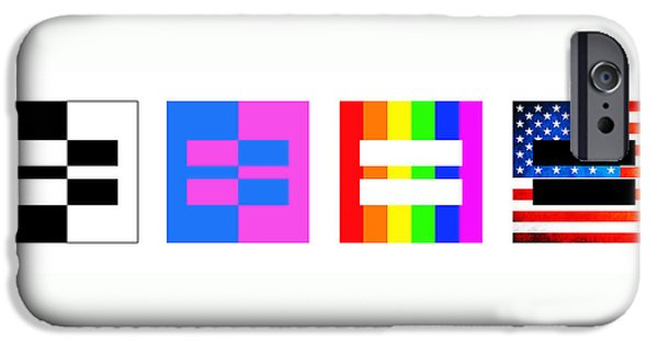Equality iPhone Cases - Its Time - Equal Rights For All By Sharon Cummings iPhone Case by Sharon Cummings