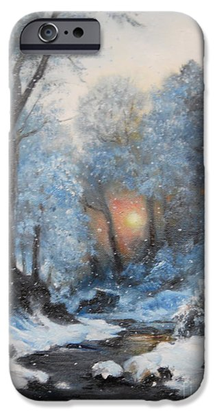 River iPhone Cases - Its Winter iPhone Case by Sorin Apostolescu