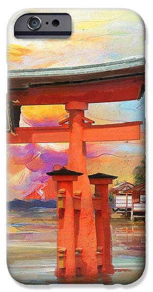 Itsukushima Shrine iPhone Case by Catf