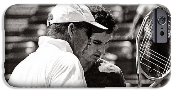 Wimbledon Photographs iPhone Cases - Ivan Lendl and Andy Murray  iPhone Case by Nishanth Gopinathan