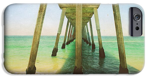Pier Digital Art iPhone Cases - Ive Been Here Before iPhone Case by Laurie Search