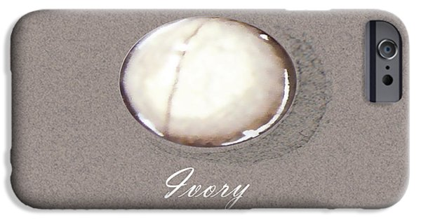 Food And Beverage Jewelry iPhone Cases - Ivory cabochon iPhone Case by Marie Esther NC
