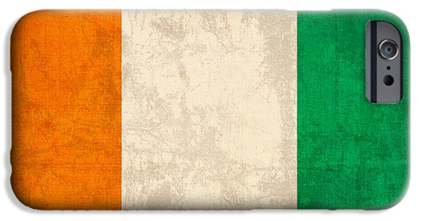 Nation iPhone Cases - Ivory Coast Cote Divoire Flag Vintage Distressed Finish iPhone Case by Design Turnpike