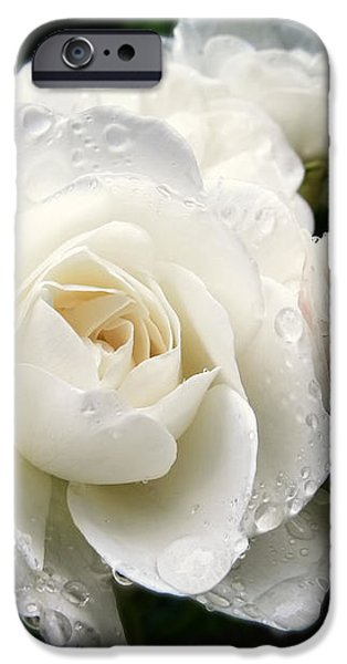 Ivory Rose Bouquet iPhone Case by Jennie Marie Schell