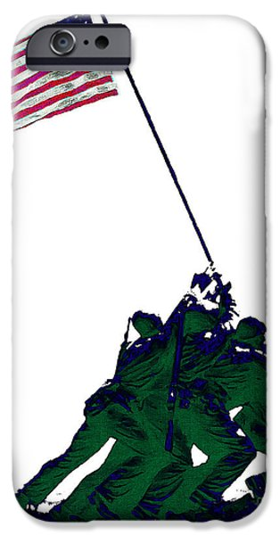 Wwi iPhone Cases - Iwo Jima 20130210-white iPhone Case by Wingsdomain Art and Photography