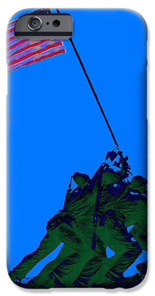 Fourth Of July iPhone Cases - Iwo Jima 20130210m88 iPhone Case by Wingsdomain Art and Photography