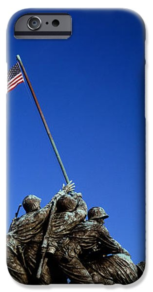 American Flag iPhone Cases - Iwo Jima Memorial At Arlington National iPhone Case by Panoramic Images