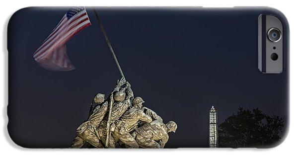 Marine iPhone Cases - Iwo Jima Memorial USMC iPhone Case by Susan Candelario
