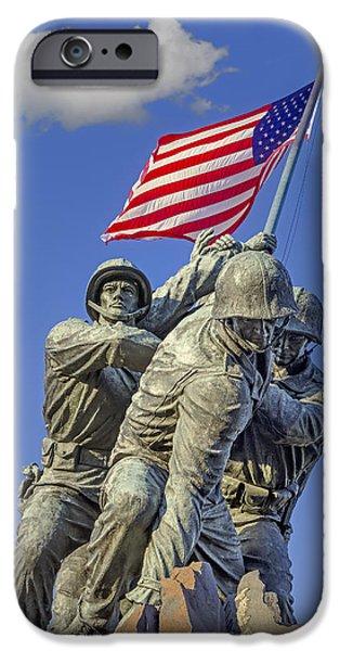 Sky iPhone Cases - Iwo Jima United States Marine Corps iPhone Case by Susan Candelario