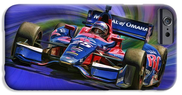 Marco Andretti iPhone Cases - IZOD INDYCAR SERIES Marco Andretti  iPhone Case by Blake Richards