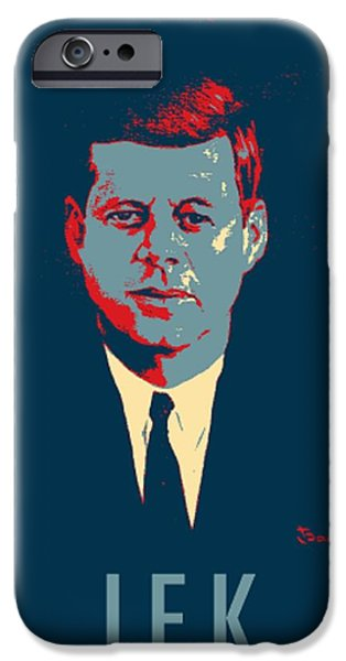 Potus iPhone Cases - J F K in HOPE iPhone Case by Rob Hans
