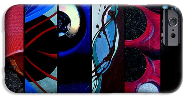 Asphalt Paintings iPhone Cases - j HOT 27 iPhone Case by Marlene Burns