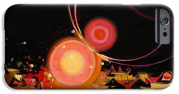 Sphere Paintings iPhone Cases - Jabberwocky 2 iPhone Case by Susie Hamilton