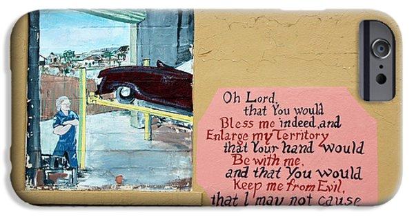 Art By God iPhone Cases - Jabez Window iPhone Case by Joe Jake Pratt