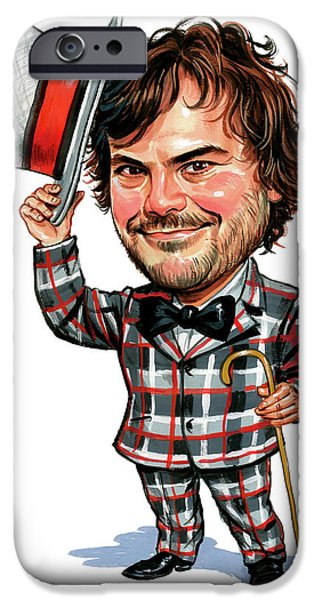 Comedian iPhone Cases - Jack Black iPhone Case by Art